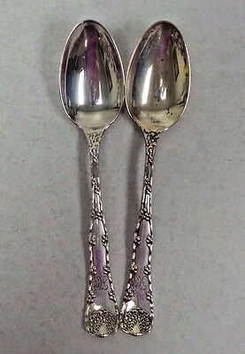 TWO Tiffany & Co. Wave Edge Sterling Teaspoons
