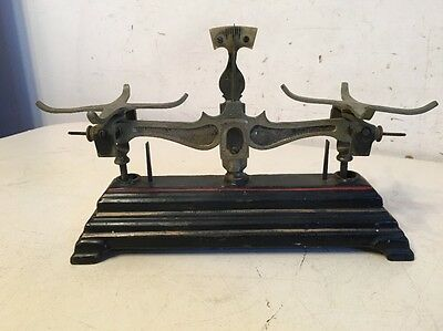 Rare Antique Cast Iron Apothecary Scale W/ Chinese Characters Gold Or Opium?