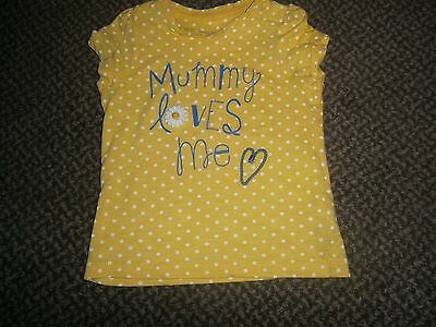 """Cute """"mothercare"""" Age 9-12M Girls Short Sleeve """"mummy Loves Me"""" Top"""