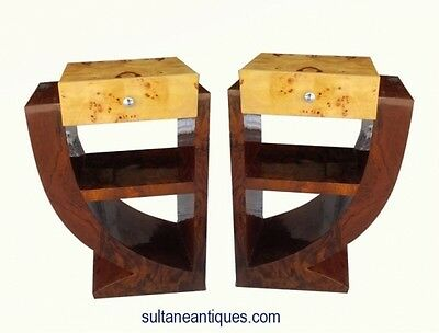 IN 3 WEEKS BEST Deco style walnut + Maple wood Commodes