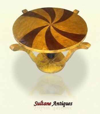 Marquetry Art Deco Style Rosewood Maple side table