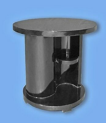 quality black art deco style side cocktail table