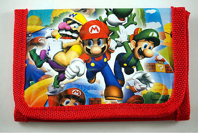 **Super Mario Brothers Children's Trifold Wallet**— More Characters Avail Too!