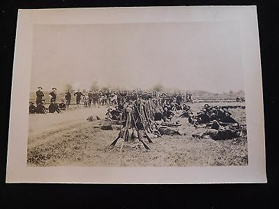 #S166 c.1908 Philippine-American War McClure Cabinet Photo; Soldier's Camp