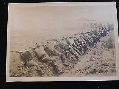 #S170 c.1908 Philippine-American War McClure Cabinet Photo; Regulars in Trenches