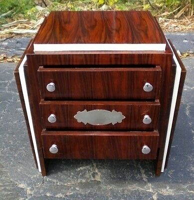 Spectacular Art Deco style rosewood commode