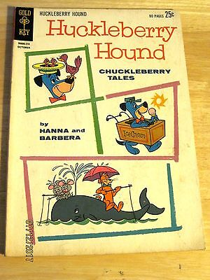 Giant HUCKLEBERRY HOUND comic Chuckleberry Tales #18 FINE~Gold Key 1962~80 pages