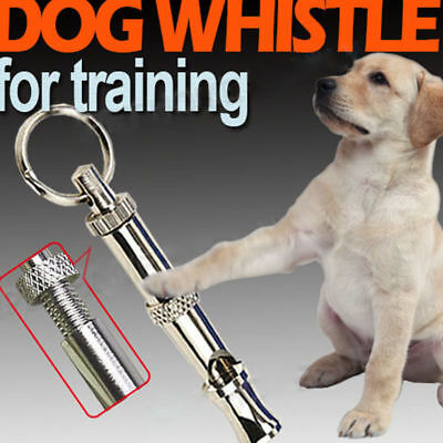 55mm Dog Puppy Pet Training Whistle Silent Ultrasonic Adjustable Sound +Key Ring