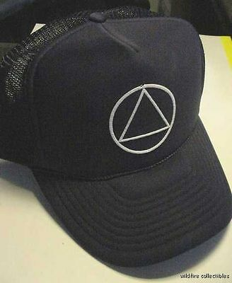 LOT of 10 STEP AA ALCOHOLICS ANONYMOUS RECOVERY HAT CAPS circle triangle new