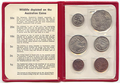 Australia, 1969 Mint Set, Red Folder, 6 Coins, BU