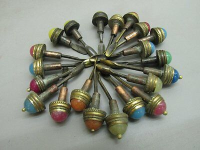 A Set Of (21) Chinese Snuff Bottle Tops & Spoons