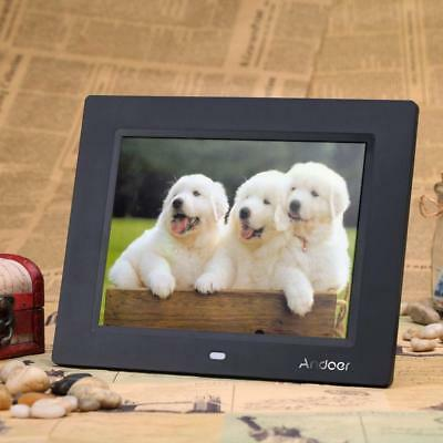 """8"""" HD LED Digital Photo Picture Frame MP3 MP4 Movie Player Remote Control B0X1"""