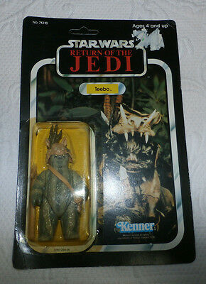 Unpunched 1983 Vintage Star Wars Return of the Jedi Teebo Action figure Kenner