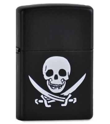 Zippo ZO05911 Lighter Jolly Roger Matte Black Finish