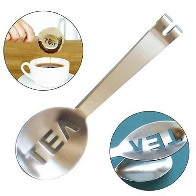 Stainless Steel Teabag Tongs Tea Bag Squeezer Kitchen Craft Holder Tool NEW LG