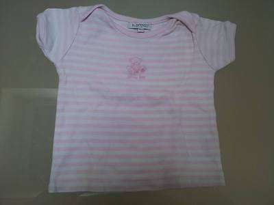Tee shirt rayé rose et blanc In Extenso 12 mois