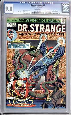 Doctor Strange # 1  It Lurks within the Cystal Ball !  CGC 9.0 scarce book !