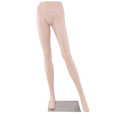 "41"" Female Half Body Legs Mannequin Plastic Pants Form Display w/ Metal Base New"