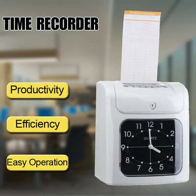 Electronic Employee Time Recorder Time Clock analogue With Card Easy Operation