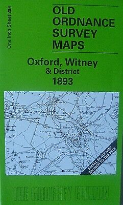 Old Ordnance Survey Map Oxford Witney & District & map of Blandon 1893 S236 New