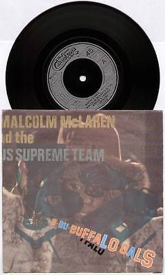 "MALCOLM McLAREN / WORLD'S FAMOUS SUPEME TEAM ~ BUFFALO GALS ~ 1982 UK 7"" SINGLE"