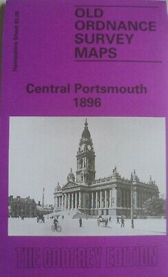 Old Ordnance Survey Maps Central Portsmouth Hampshire 1896 Godfrey Edition New