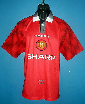 1996-1998 Manchester United Home Football Shirt [Large] New Condition