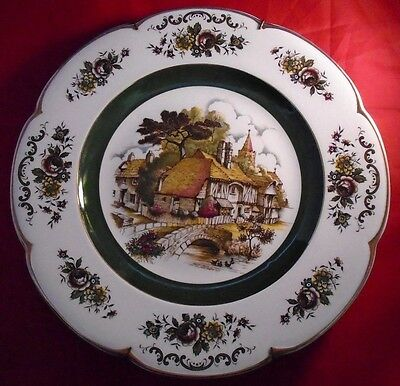 Vintage Wood and Sons England Ascot Service Plate 10 1/2""