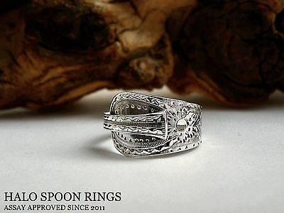 Very Pretty Georgian Solid Silver Spoon Ring London 1792 Fully Assay Approved
