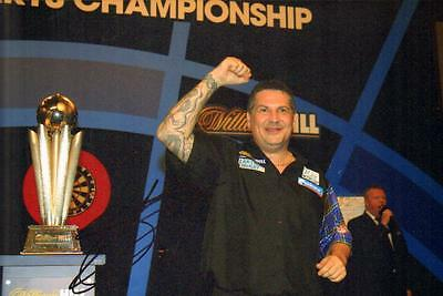 12x8 HAND SIGNED PHOTO GARY ANDERSON DARTS PLAYER