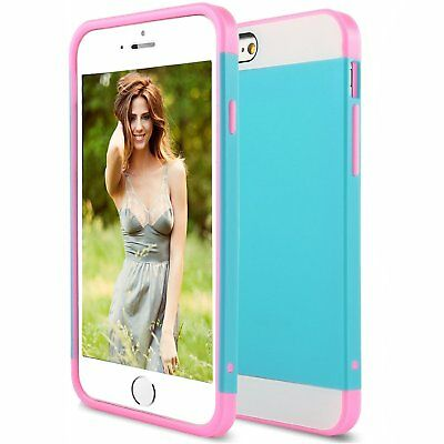 """For iPhone 6S 6 4.7"""" Hybrid Ultra Thin Protective Hard Case Slim TPU Case Cover"""