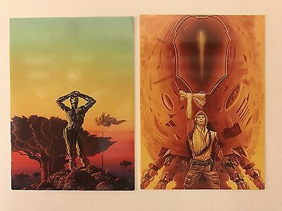 PROMO CARDS: MICHAEL WHELAN I & II ADVENTURES IN FANTASY & OTHER WORLDS 2 Diff.
