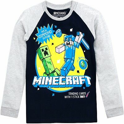 Minecraft Longsleeve Top | Boys Minecraft T-Shirt | Kids Minecraft Tee