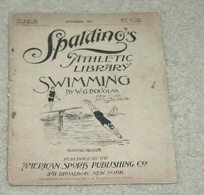 1894 Spaulding's Athletic Library Swimming Booklet Pamphlet Catalog