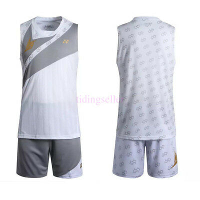 World Championships men's Tops tennis/badminton Sleeveless T shirts +short Suit