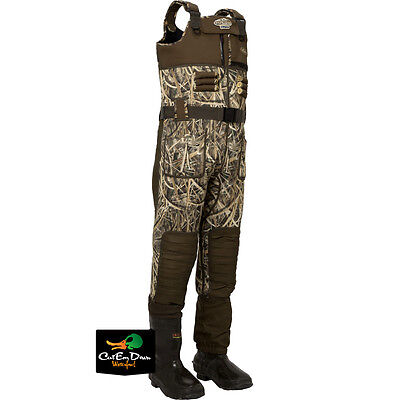 Drake Waterfowl Mst Eqwader 2.0 Chest Waders Shadow Grass Blades Camo Size 9