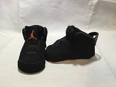 Nike Air Jordan 6 Retro Infant Girls/boys Infrared/black Crib Shoes-size 2 C