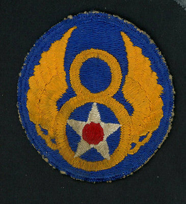 "US ARMY AIR CORPS PATCH - 8TH AIR FORCE and 5 ""Hershey Bars"""