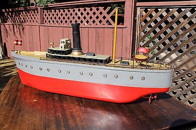 Vintage Orkin Toy Boat 100% Original! Wind-Up Tin Toy Clockwork