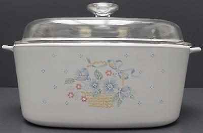Corning Ware Country Cornflower 5L Covered Casserole Dish Dutch Oven Pyrex Lid