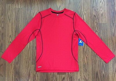 Boy's Starter Dri-Star Long Sleeve Red Athletic Shirt Size L(10-12) NWT