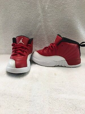Nike Air Jordan 12 Retro Toddler Boys Gym Red/White Shoes~size 9 C
