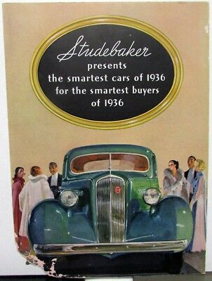 1936 Studebaker Dictator President St Regis Color Sales Brochure Folder Original