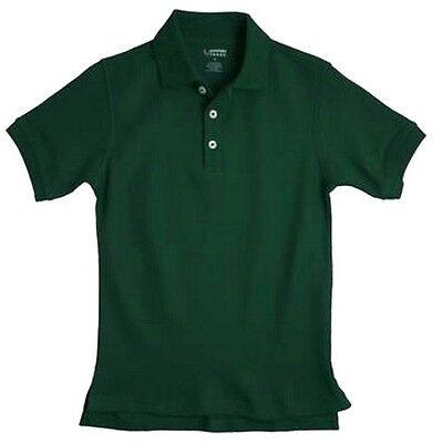 School Uniforms Hunter Green S/S Polo Shirt French Toast 6 Unisex Cotton Blend