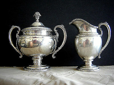 ESTATE TOWLE 25oz STERLING SILVER CREAMER & COVERED SUGAR SET #76540 VERY NICE
