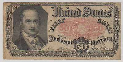 C0073: 1875 50 Cents Fractional Currency Banknote, F-VF