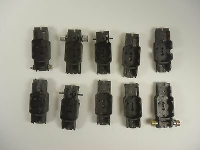 10 AURORA THUNDERJET 500 HO SCALE EMPTY CHASSIS used, for parts