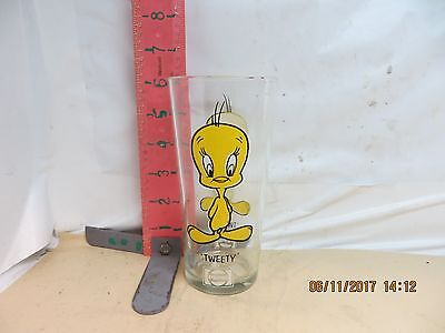 Pepsi / Warner Brothers Promo Glass - Tweety From 1973 , Decent Color!