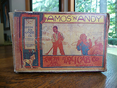 Refurbished Amos -n- Andy Fresh Air Taxicab Box Only with Ad Louis Marx & Co.