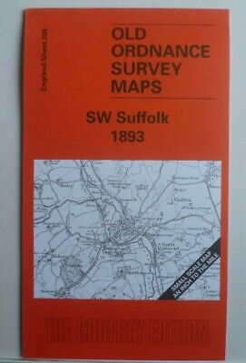 Old Ordnance Survey Maps SW Suffolk Sudbury, Long Melford 1893 & Plan Wixoe 1902
